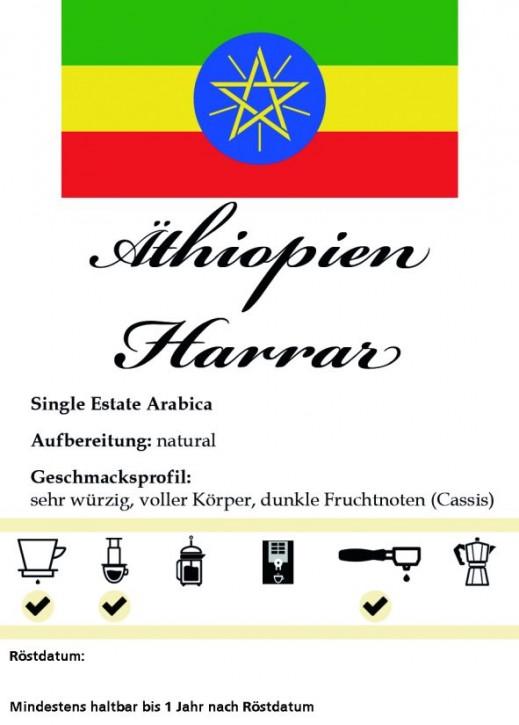 Äthiopien Harrar 500g / Stempelkanne