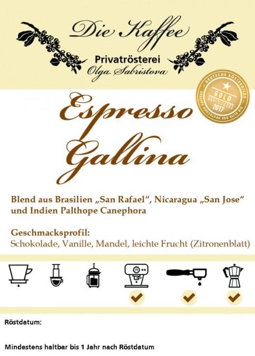 """Espressomischung """"Gallina"""" 1000g / ganze Bohne"""