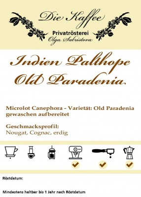 Indien Palthope Estate - Old Paradenia 250g / ganze Bohne