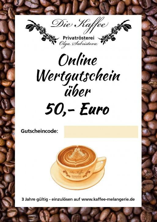 Online Geschenkgutschein 50,- Euro