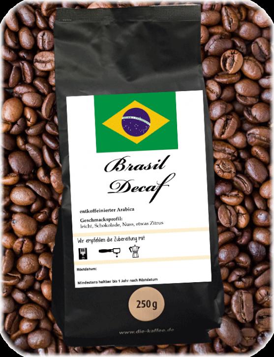 Brasilien entkoffeiniert ganze Bohne / 250g