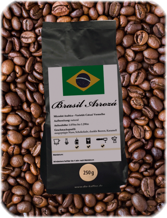 """Brasil """"Sitio Arrozá"""" 250g / ganze Bohne"""
