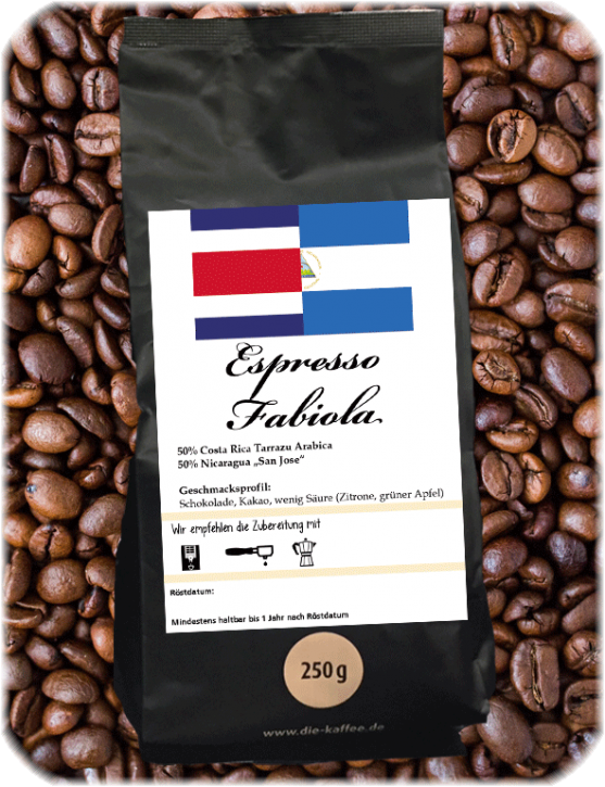 """Espressomischung """"Fabiola"""" 1000g / ganze Bohne"""