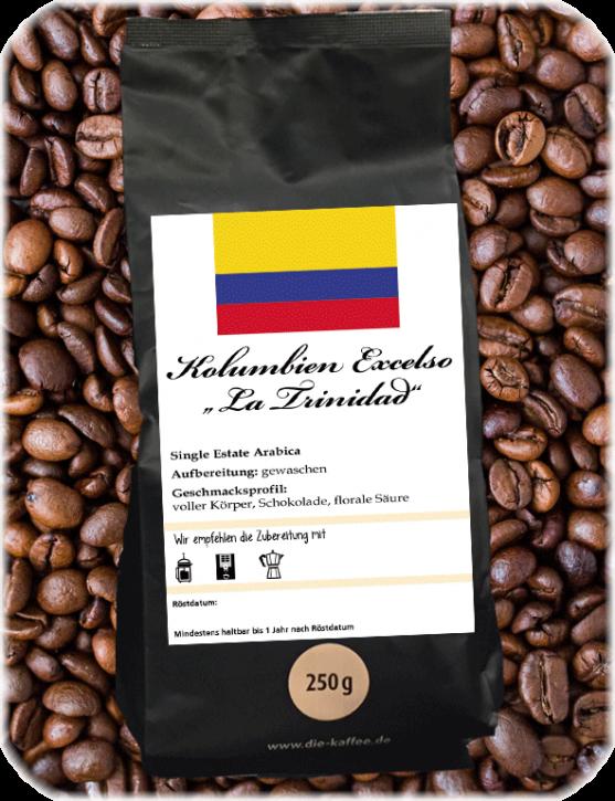 "Kolumbien Excelso - ""La Trinidad"" ganze Bohne / 500g"