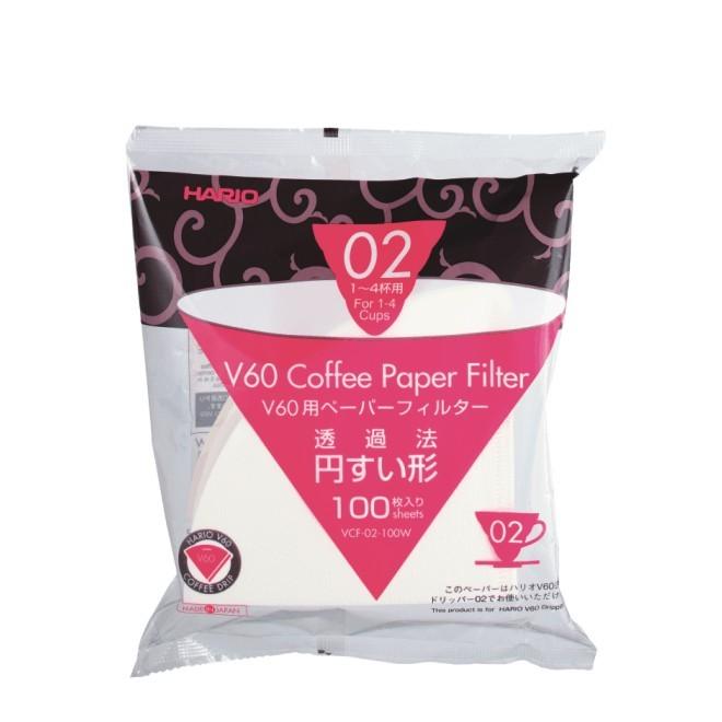 100 Filtertüten für Hario Coffee Dripper V60 02