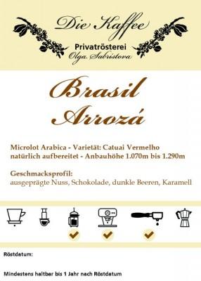 """Brasil """"Sitio Arrozá"""" 500g / ganze Bohne"""