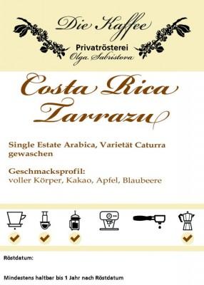 Costa Rica Tarrazu 500g / ganze Bohne