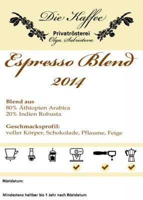 Espresso Blend - 2014 ganze Bohne / 500g
