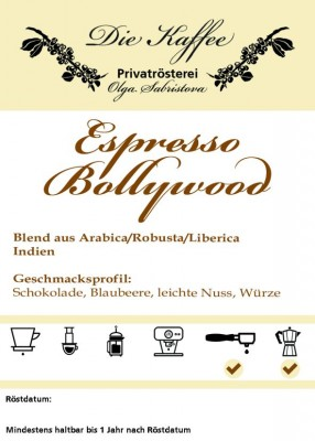Espresso Bollywood 500g / ganze Bohne