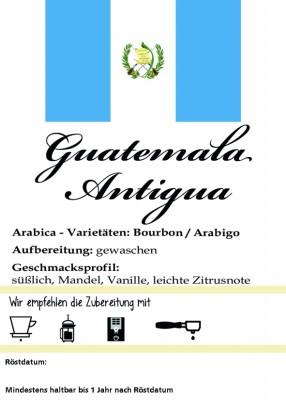 "Guatemala Antigua ""Pastores"" 250g / ganze Bohne"