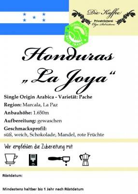 "Honduras ""La Joya"" 500g / ganze Bohne"