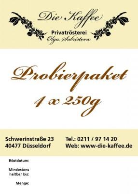 Kaffee / Espresso Probierpaket - 4 x 250g