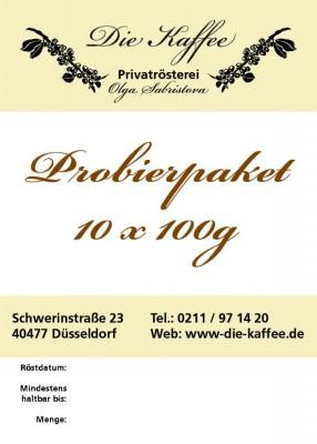Kaffee / Espresso Probierpaket - 10 x 100g