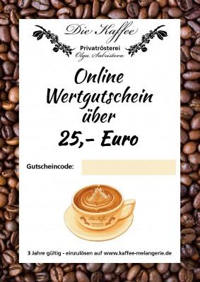 Online Geschenkgutschein 25,- Euro