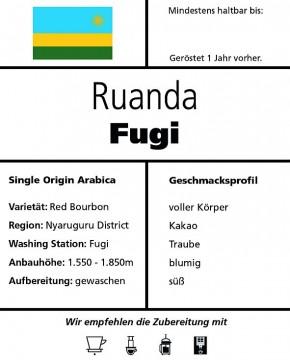 "Ruanda ""Fugi"" ganze Bohne / 500g"