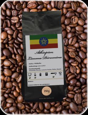 """Äthiopien Limmu """"Diromina"""" - semi-washed 1000g / ganze Bohne"""