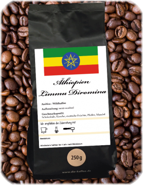 """Äthiopien Limmu """"Diromina"""" - semi-washed 250g / ganze Bohne"""